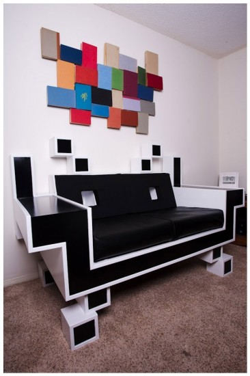 pixel art and couch 3 geek decor. Black Bedroom Furniture Sets. Home Design Ideas