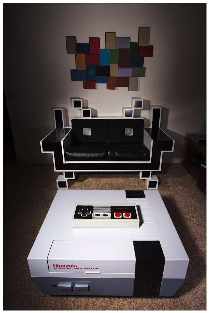 space invaders table