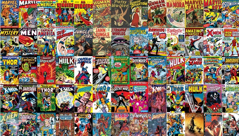 Marvel comics wall mural geek decor for El mural pelicula online