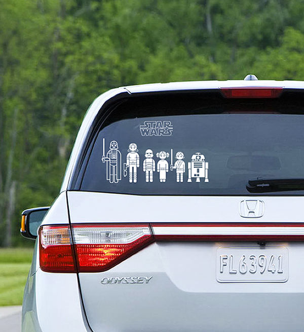 Star Wars Family Car Decal 1