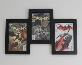 comic book wall display for three comics geek decor. Black Bedroom Furniture Sets. Home Design Ideas
