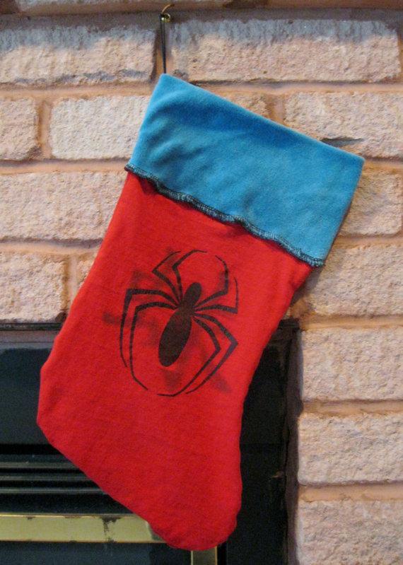 Spider Man Christmas Stocking Geek Decor