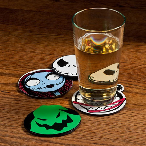 Nightmare before christmas coasters geek decor for Decoration geek