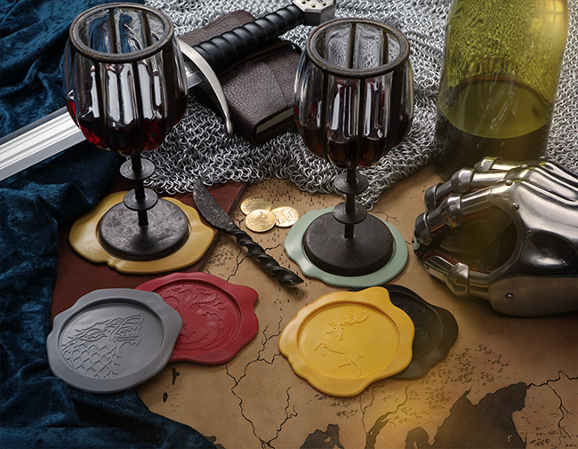 GAME OF THRONES Wax Seal Coasters Geek Decor