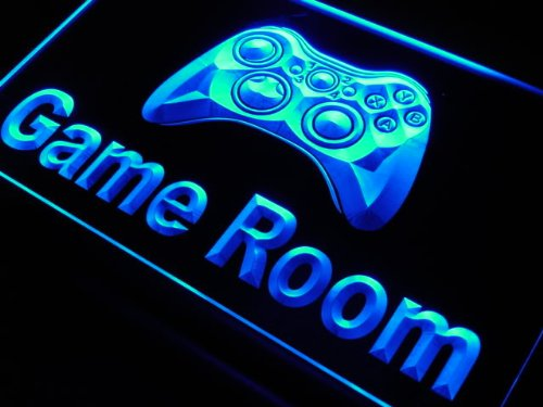 Game room game controller 39 neon 39 sign geek decor for Room decor neon signs