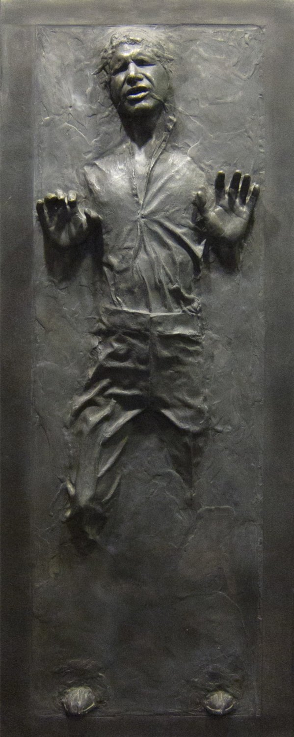 Han solo in carbonite wall graphic geek decor 2 geek decor - Han solo carbonite wall art ...