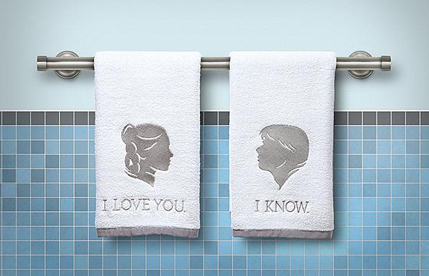 Star Wars Han and Leia Bathroom Hand Towels |Geek Decor