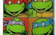 TMNT Glass Coaster Set - Geek Decor