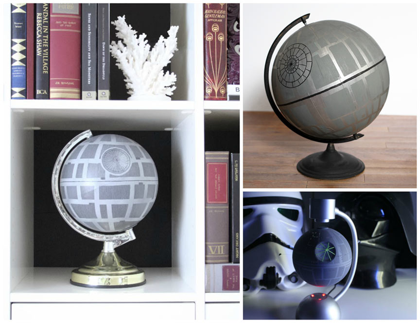 giy star wars death star globes from our nerd home geek decor. Black Bedroom Furniture Sets. Home Design Ideas