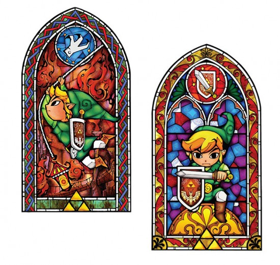 Legend of zelda stained glass wall decal geek decor for Zelda bathroom decor