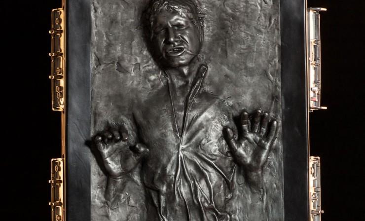 Lifesize han solo in carbonite geek decor - Han solo carbonite wall art ...