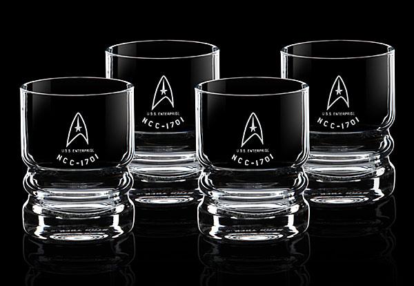 STAR TREK U S S Enterprise Glassware Set Geek Decor