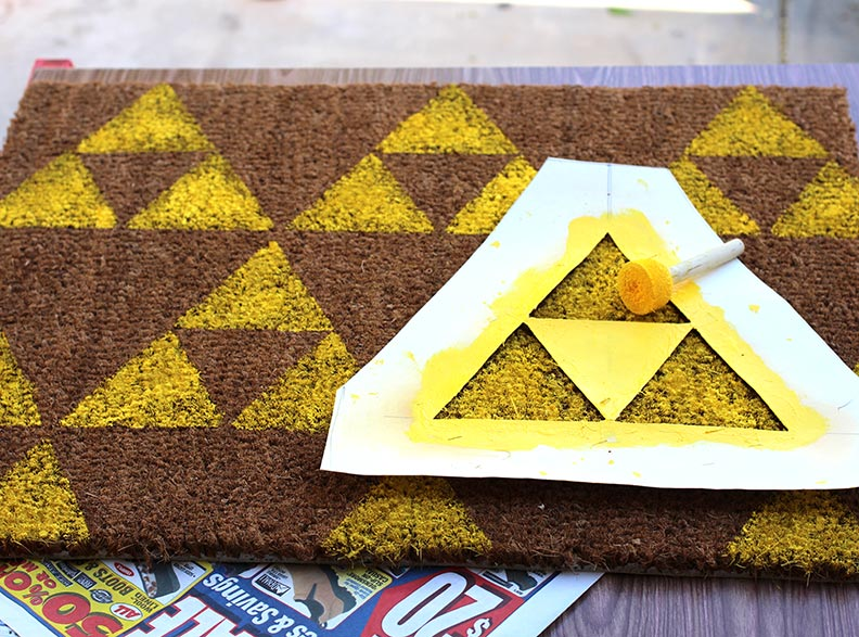 Giy do it yourself star trek and zelda welcome mats for Decoration zelda