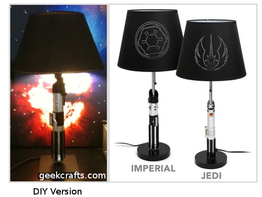 GIY - Do It Yourself Lightsaber Lamp | Geek Decor