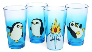 Adventure Time Ice King and Gunter Pint Glass Set - Geek Decor