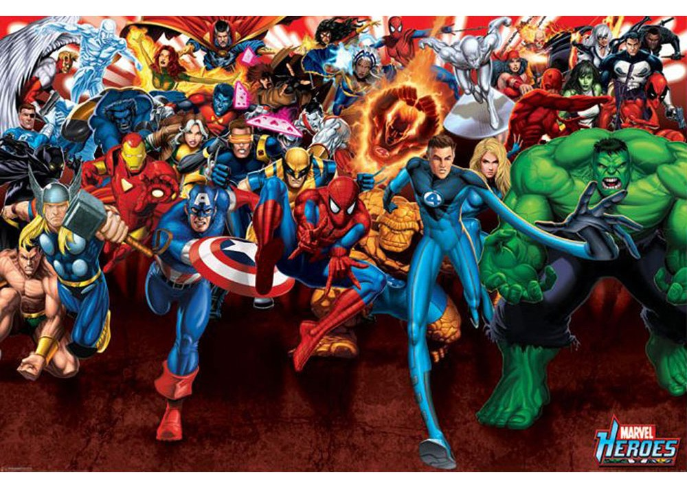 Marvel Heroes Poster | Geek Decor Marvel