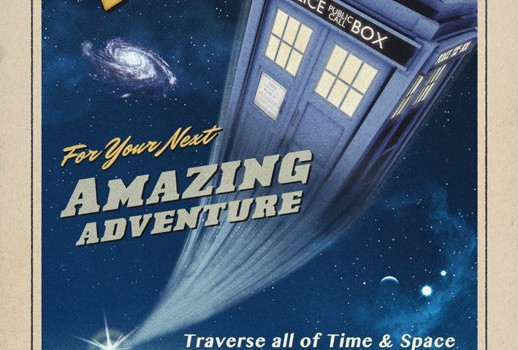 Travel By TARDIS Poster - Geek Decor