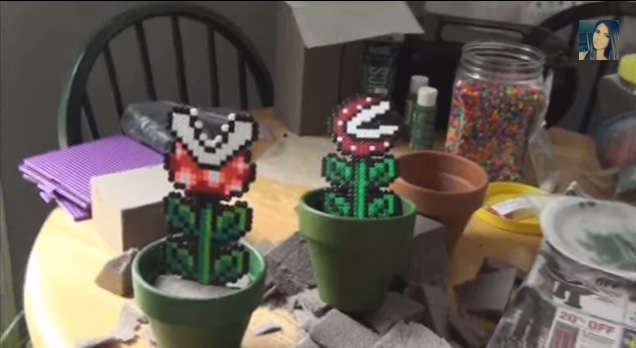 Giy do it yourself potted perler bead piranha plant geek decor solutioingenieria Gallery