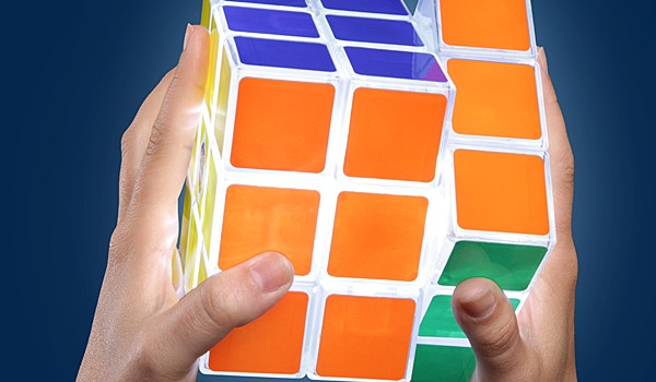 Playable Rubik's Cube Lamp - Geek Decor