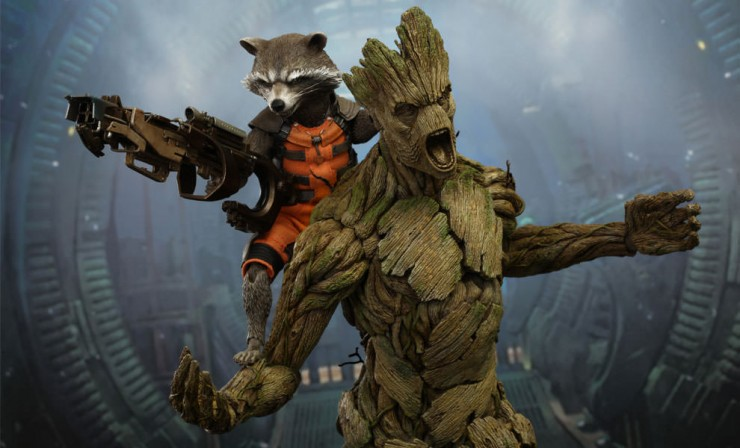 Rocket Raccoon and Groot HOT TOYS Action Figures