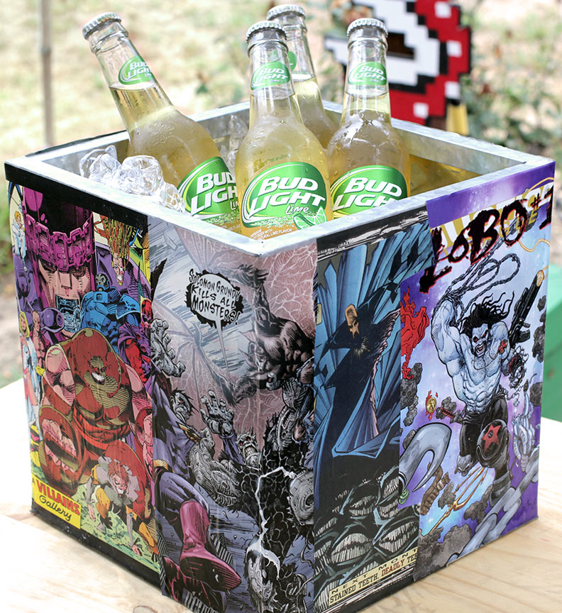 Giy Do It Yourself Comic Book Ice Bucket Geek Decor