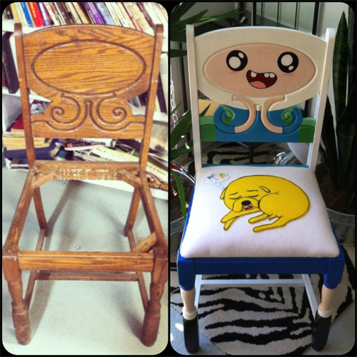 Nerdy Kitchen Accessories: GIY - Do It Yourself Adventure Time Chair