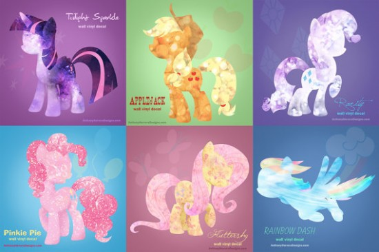 My Little Pony Wall Decals Geek Decor