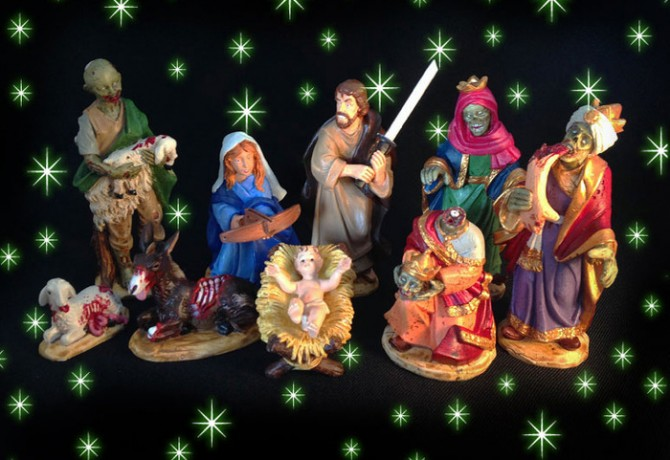 Kickstarter Zombie Nativity Set- Geek Decor