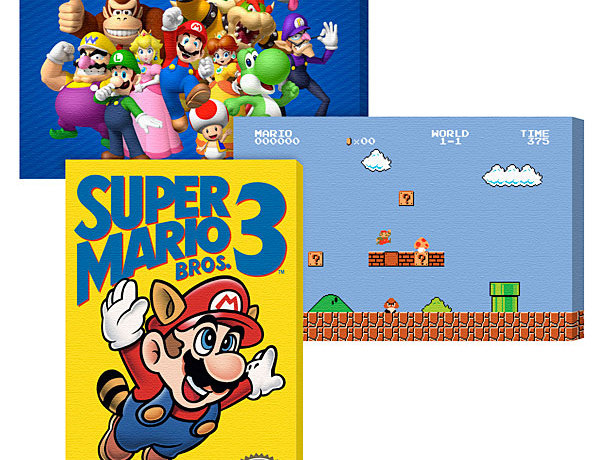 Nintendo Canvas Wall Hangings - Geek Decor