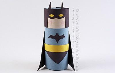 Cardboard Tube Batman - Geek Decor