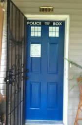 DIY Tardis Front Door - Geek Decor