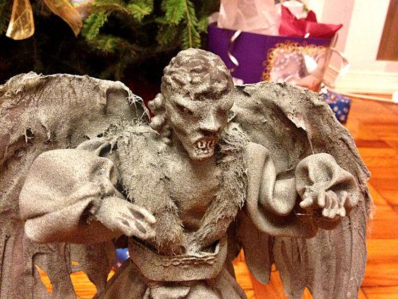 Man Cave Cutz : Weeping angel christmas tree topper detail geek decor