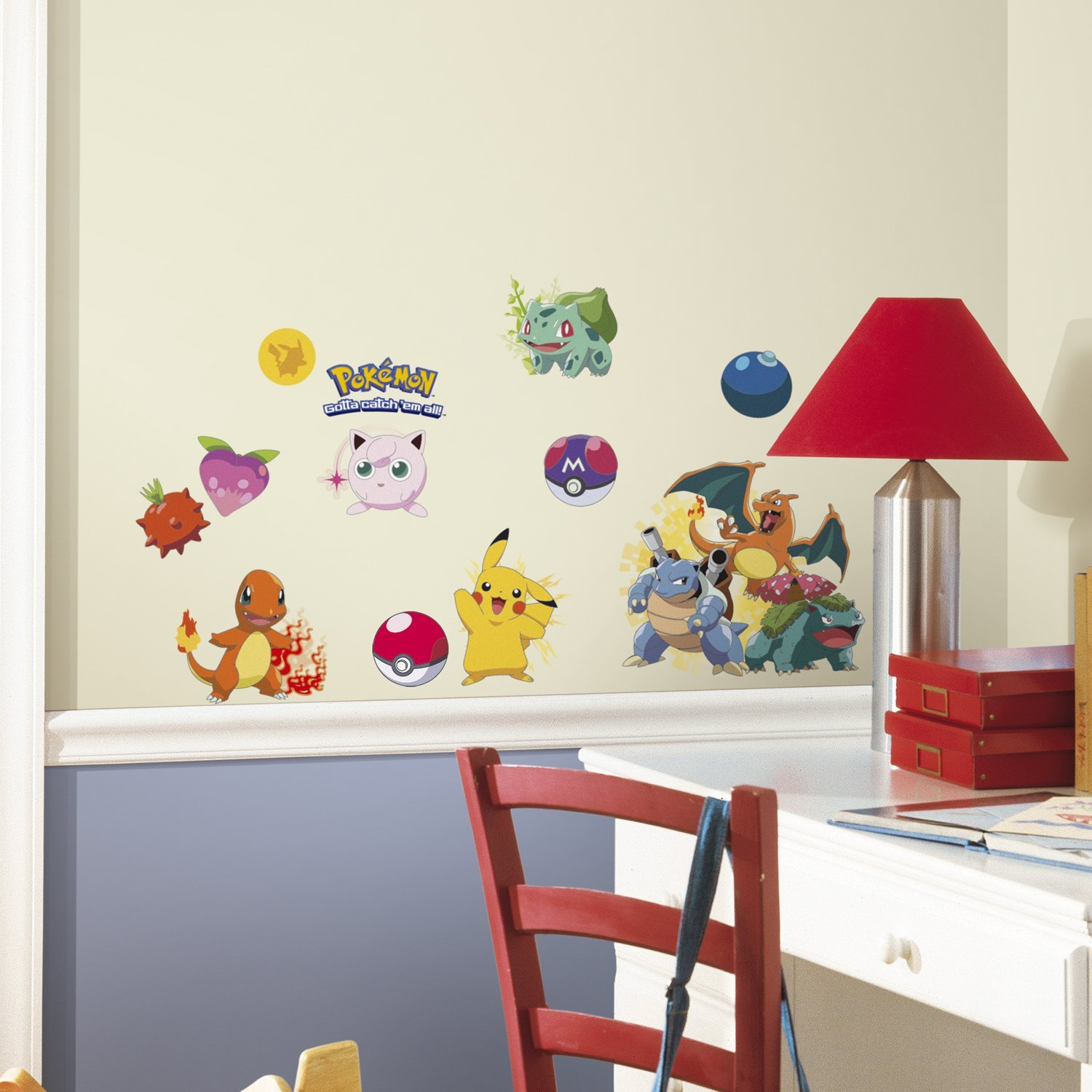 pokemon wall decals gotta collect them all geek decor. Black Bedroom Furniture Sets. Home Design Ideas