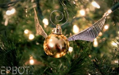 Snitch Ornaments Close-Up - Geek Decor