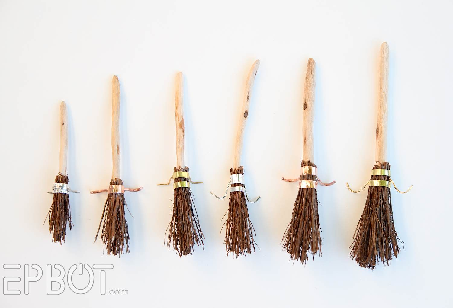Diy harry potter broom ornaments geek decor