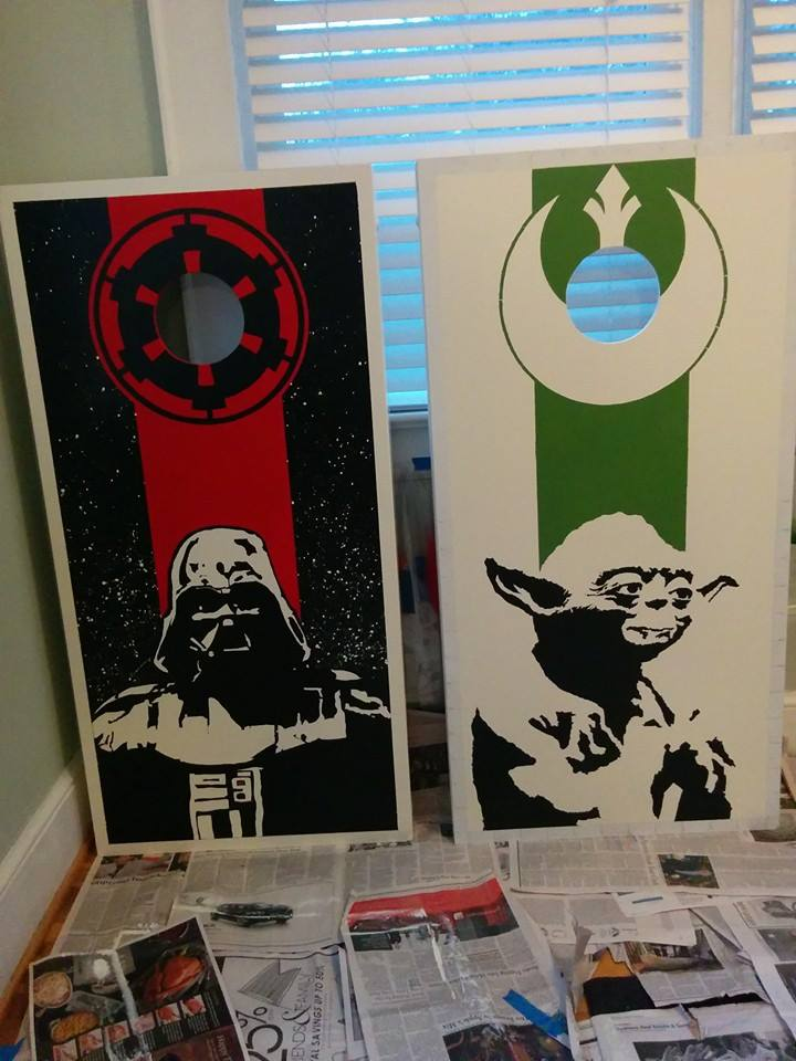 DIY Star Wars Cornhole Boards | Geek Decor