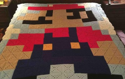 Super Mario Quilt - Geek Decor