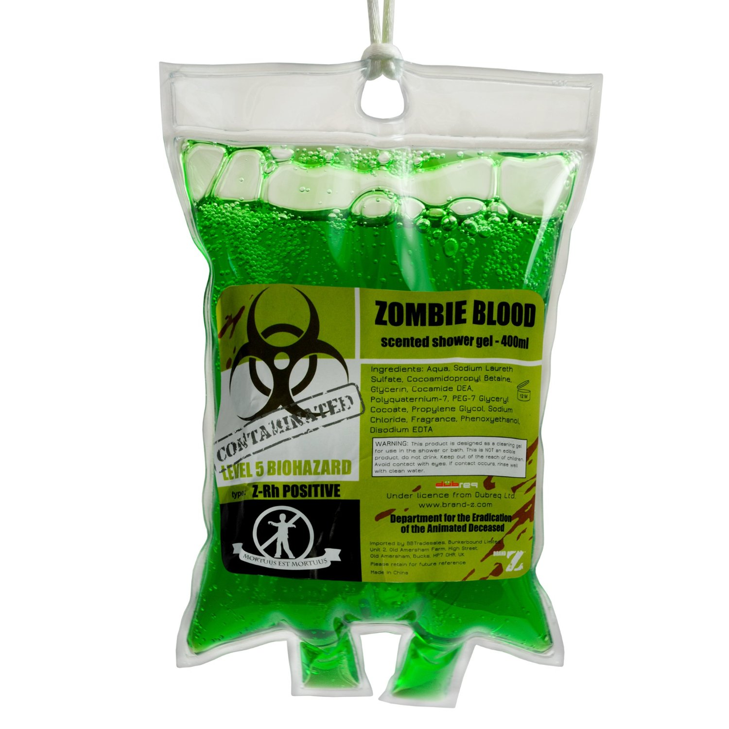 Repel zombies with zombie blood shower gel geek decor for Zombie bathroom decor
