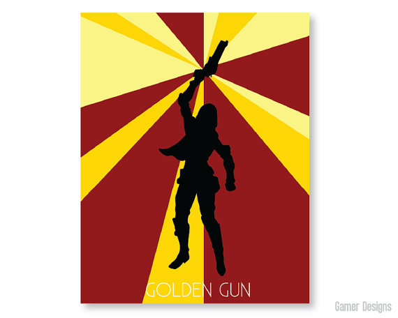 Destiny Golden Gun Print Color Option 2 - Geek Decor