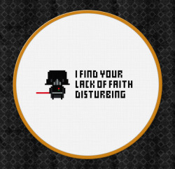 Darth Vader Cross Stitch Pattern - Geek Decor