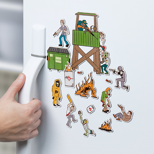 Zombie magnets get your fridge ready for the apocalypse for Zombie room decor