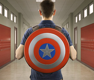 Captain America Backpack Worn - Geek Decor