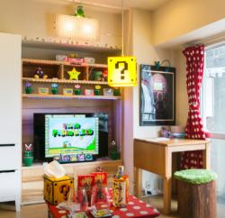 Super Mario Apartment Living Room Part 3 - Geek Decor