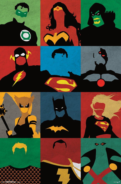 justice league minimalist style geek decor