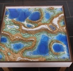 Minecraft Coffee Table Top View - Geek Decor
