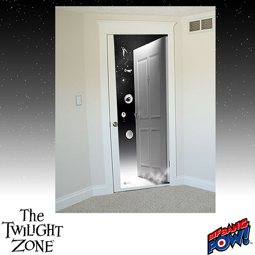 Hey the door to the twilight zone 39 s in your room geek decor for Decoration zone