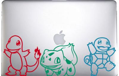 Starter Pokemon Decals -- Geek Decor