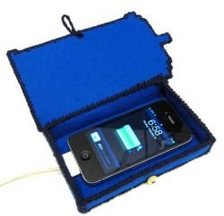 DIY TARDIS Phone Charging Station - Open and Charging - Geek Decor
