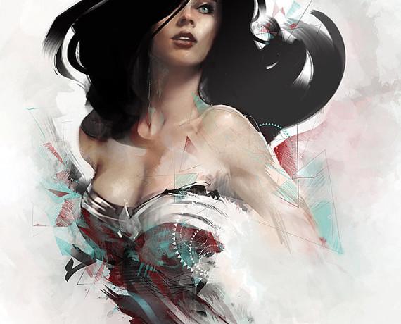 Wonder Woman Art Print - Geek Decor