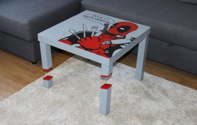 DIY Deadpool Table -- Geek Decor
